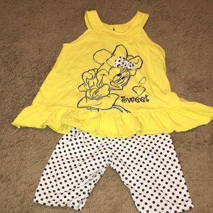 Disney Minnie Mouse Shorts Set Girls Sz 6